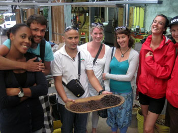 Students on Coffee Tour