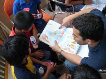 Volunteering in a school