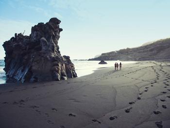 Volcanic beaches