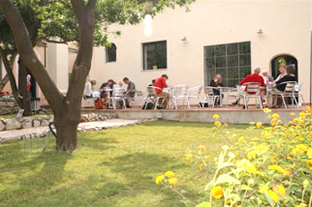 Students on the school patio