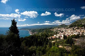 The view over beautiful Taormina