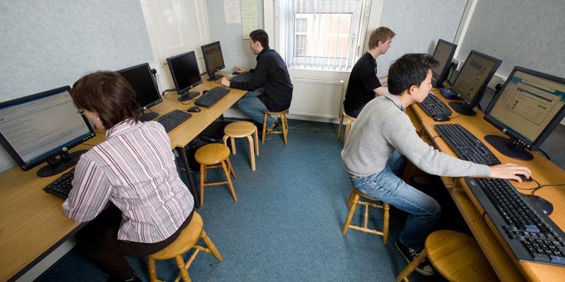 School Internet Room