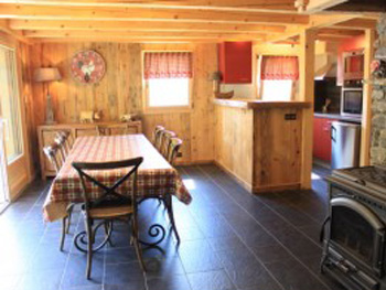 Kitchen in chalet