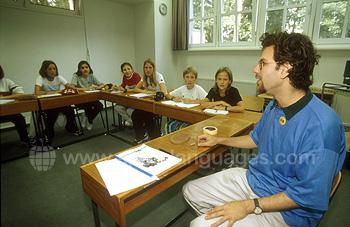 German lesson at summer camp