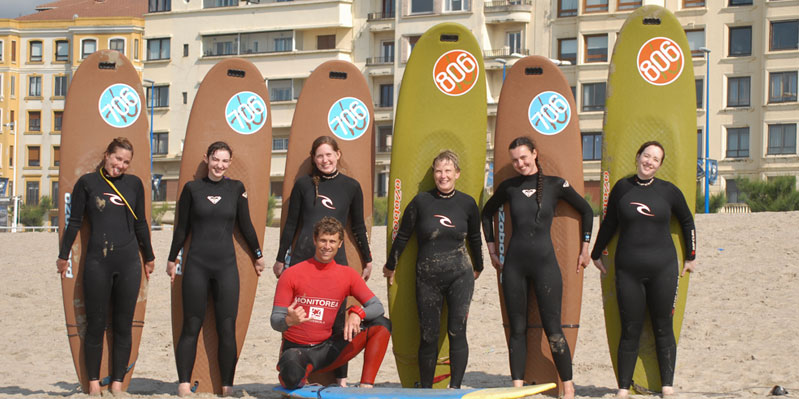 Spanish & surf lessons