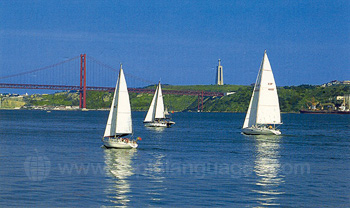 Yachts leaving Lisbon