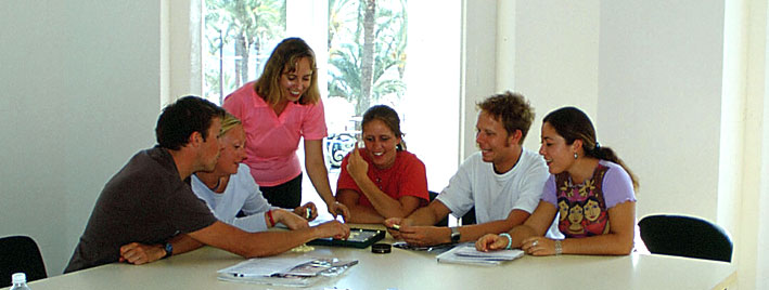 Students learning Spanish in Alicante