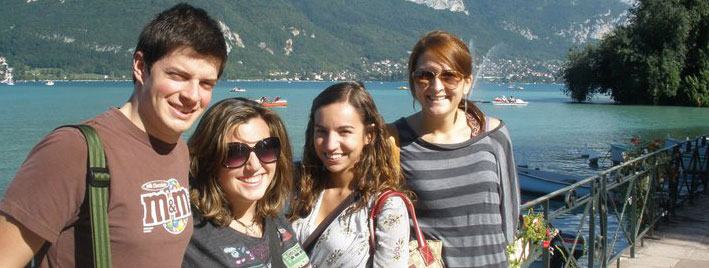 Students at Lake Annecy