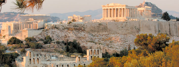 View of ancient Parthenon in Athens
