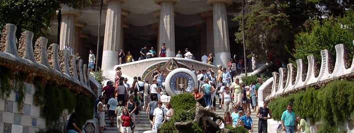 Entrance to Parc Güell, Barcelona