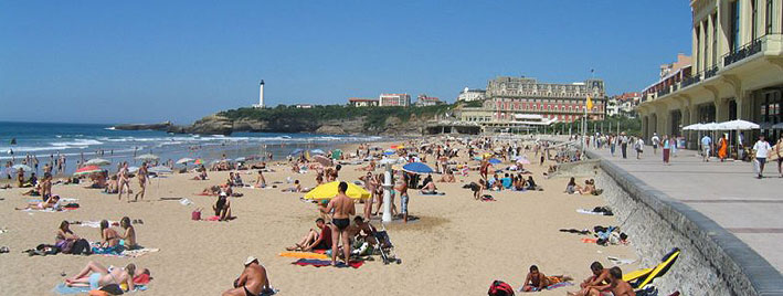 Promenade and Beach in Biarritz