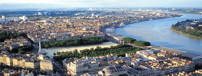 City and Garonne river view Bordeaux