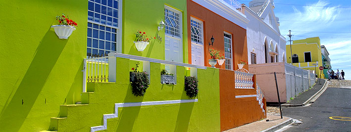 Colourful street in Cape Town