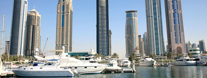 Buildings and Yachts in Dubai