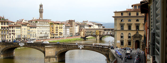 View from school window, Florence, Ponte Vecchio