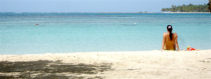 Peaceful beach in Guadeloupe