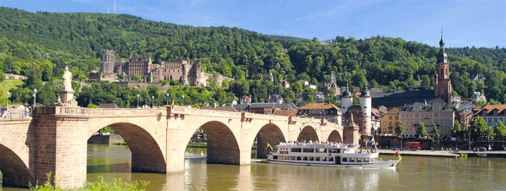 Old bridge and Castle in Heidelberg