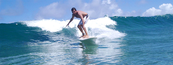 Learning to surf in Lanzarote