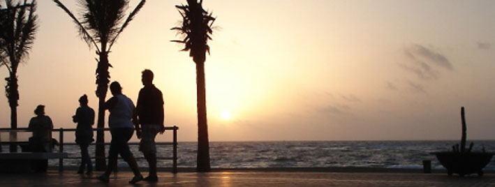 Evening sun in Las Palmas
