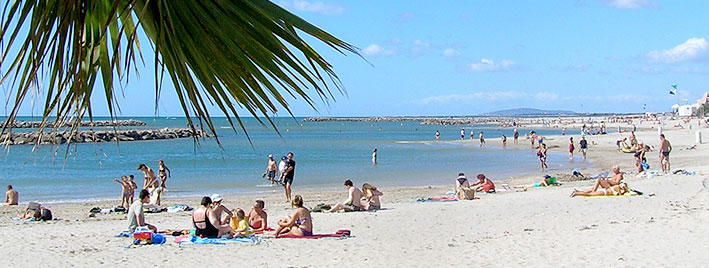 White beach, Montpellier, France