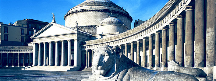 Lion at Piazza del Plebiscito, Naples