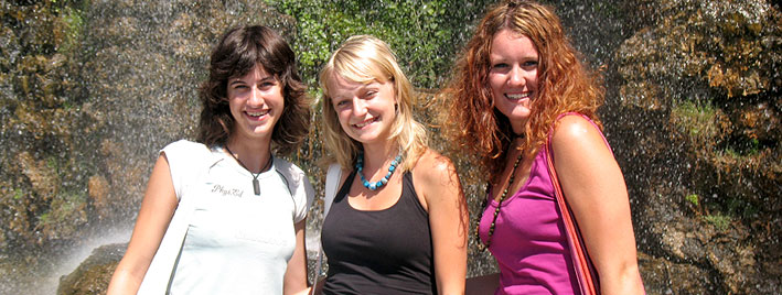 Making friends on a French course in Nice