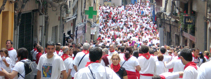 Running of the bulls, San Fermin, Pamplona