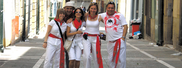San Fermin friends, Pamplona