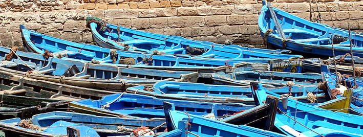 Boats in Rabat, Morocco