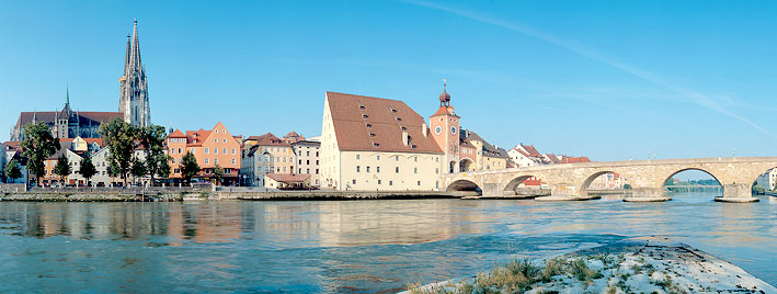 Regensburg Cathedral and Stone Bridge