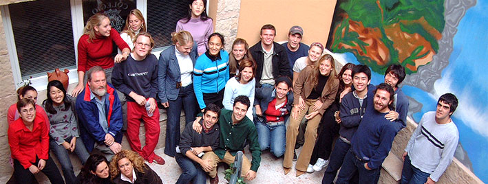 Group of students at Spanish school in Salamanca