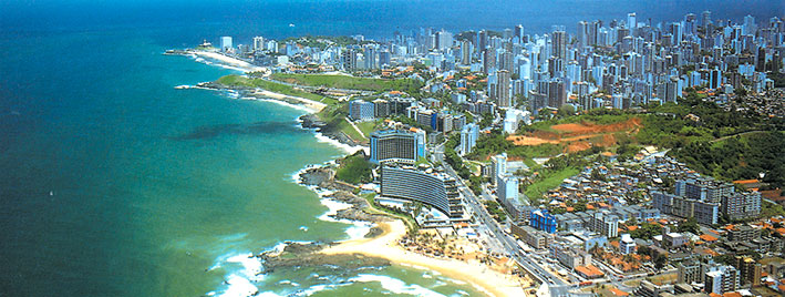 Aerial view of Salvador da Bahia