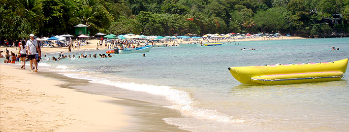 Banana boat on Sosua beach