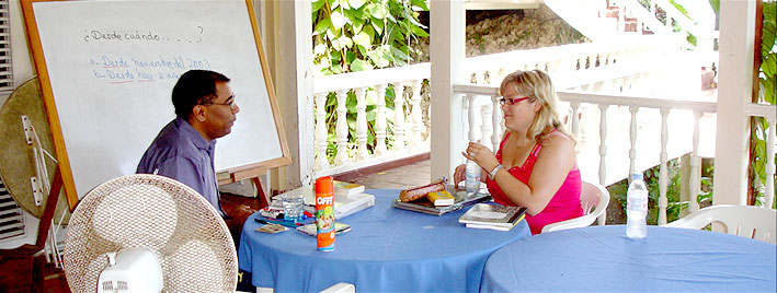 Spanish class in Sosua, Dominican Republic