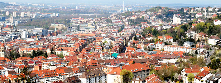 View over Stuttgart, Germany