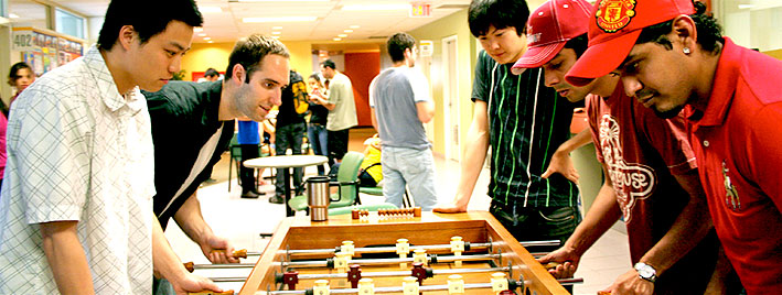 Table football in Toronto English school