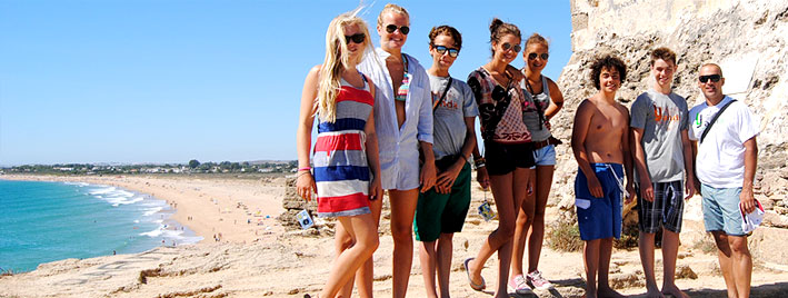 Making friends on a Spanish course in Vejer