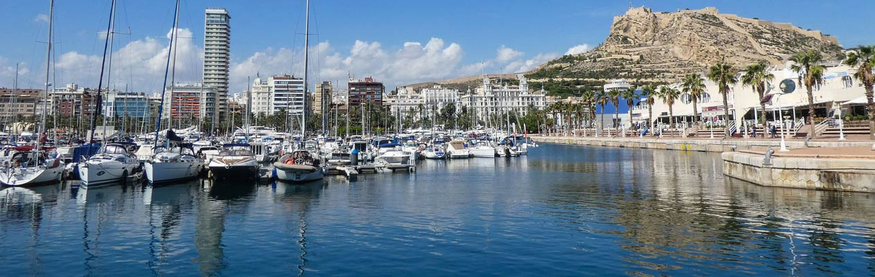 Alicante Marina with Castillo de Santa Barbara