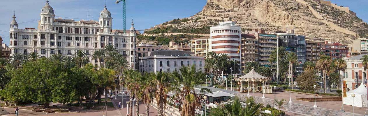 Alicante old town and promenade