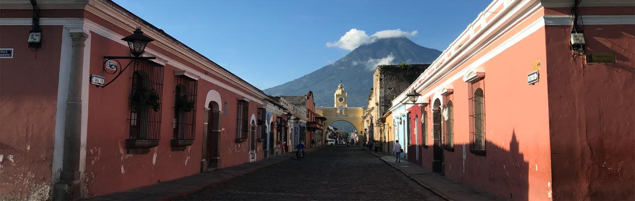 Antigua city centre in Guatemala