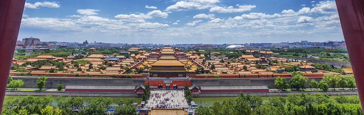 View over the Forbidden City in Beijing