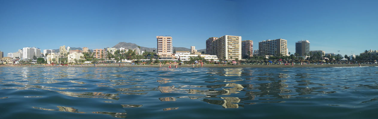 Benalmadena coastline from the Alboran Sea