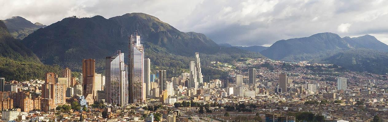 new skyline of Bogotá, Colombia