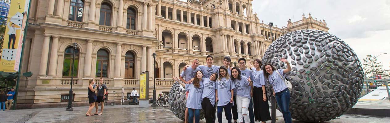 English language students in Brisbane