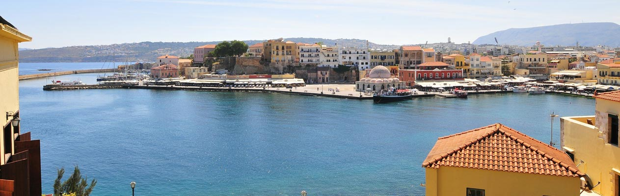 Harbour in Chania, Crete