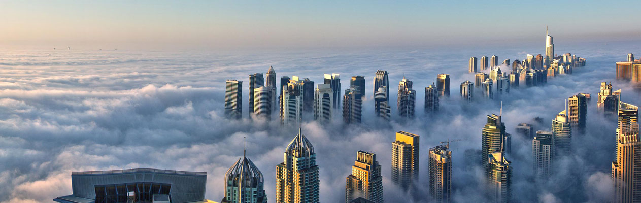 Dubai, a city in the clouds