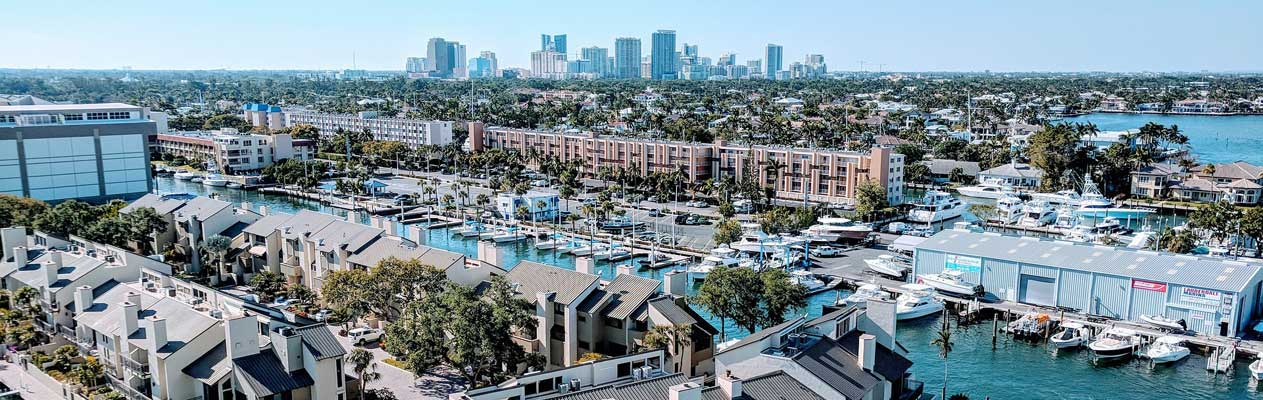 Fort Lauderdale and marina