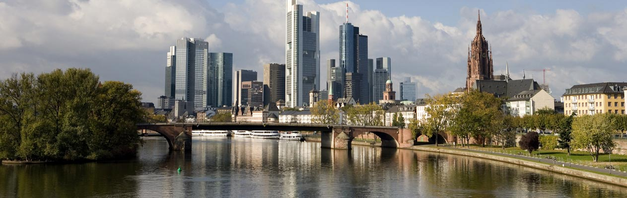 Frankfurt skyline from the river Main