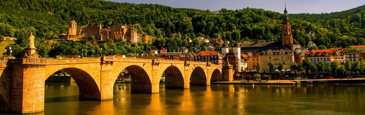 Heidelberg castle and Old Bridge, Germany