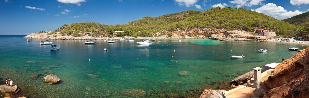 Bay in Ibiza, Spain